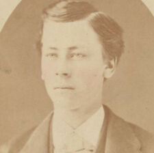 1875 PORTRAIT OF YOUNG MAN W/ LIGHT EYES   TINTED CHEEKS - KITTANNING, PA