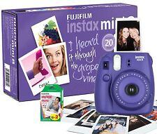 Fuji Instax Mini 8 Instant Photo Camera Grape Purple w/ 20 Instax Films
