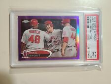 2012 Topps Chrome Purple Refractor Mike Trout #144 graded PSA 9 Mint