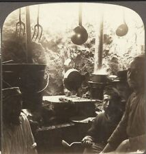 In a Trench Kitchen Underground on the Salonica Front. Underwood Stereoview #30