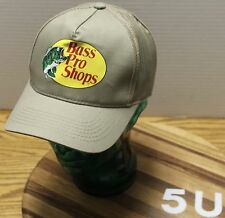 BASS PRO SHOPS BEIGE SNAPBACK HAT MESH BACK IN EXCELLENT CONDITION