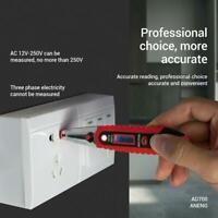 Voltage Digital Detector Tester 12~250V LCD Electric Pen Test AC/DC M1Z3