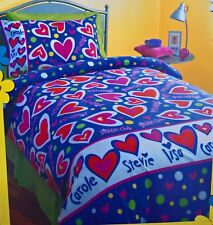 ~ Saddle Club - LOVE HEARTS DOONA QUILT DUVET COVER SET US Twin Horse