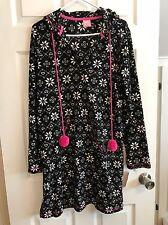 Jenni By Jennifer Moore NEW  Plush Hooded Lounger SNOW FLAKE Pajamas Size SMALL