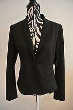 NWT.Ladies' tahari black butttoned/lined /pocket/drapped lower back jacket;10