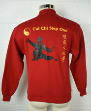 Vintage Mens Jerzees 50/50 Red Sweatshirt Martial Arts Tai Chi USA M