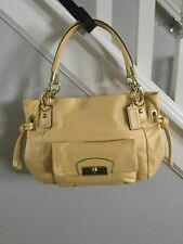 Coach Handbag Kristin Buttercup Yellow East West Satchel F22307