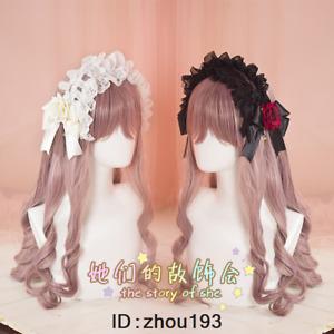 Japanese Lolita KC Lace Headband Bowkont Headwear Hair Accessories White+Black