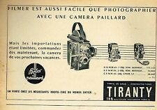 G- Publicité Advertising 1955 La Camera Tiranty Bolex paillard