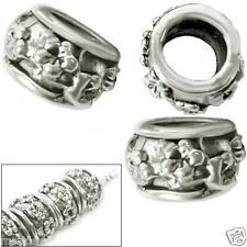 MERZIEs 3 sp European Charm 5.5m large hole spacer 10x6mm beads - SHIPs from USA