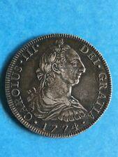 NICE 1774 Mo (F.M.) 8 Reales; Attractive, EF, No Problem, Toned Original