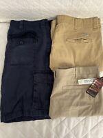 Lot Of 3 Mens Chino Cargo Shorts Wrangler St Johns Bay Swiss Tech Size 38 1 NWT