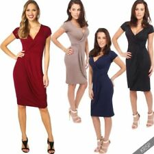 Viscose Wrap Dresses for Women with Cap Sleeve