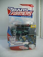 TRANSFORMERS ANIMATED Deluxe Soundwave With Laserbeak New Misb