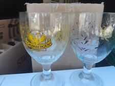 SET of TWO BELGIAN CLASSICS: GRIMBERGEN ABBY BEER GLASSES .