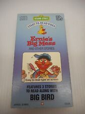 Sesame Street Start-To-Read-Video Ernie's Big Mess And Other Stories VHS 1987