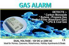 Gas Alarm Detects LPG, Carbon Monoxide & Knockout Gas For Caravans