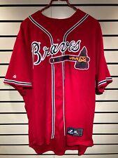 Atlanta Braves Alternate Red Baseball Replica Jersey #14 Xl