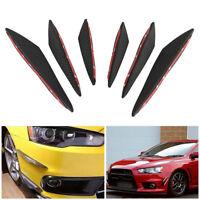 6Pcs Black Car Front Bumper Lip Splitter Fins Body Spoiler Canards Fin Lip
