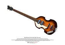 Paul mccartney 1961 hofner cavern bass art poster A3 t