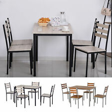 HOMCOM 5-Piece Modern Wooden Dining set 1 Table 4 Chairs
