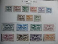 OBERSCHLESIEN UPPER SILESIA GERMAN PLEBISCITES Mi. #13-29 stamp set! CV $24.00