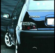 Citroen Saxo 1996-2002 Black Clear Lens Lexus Jewel Back Rear Tail Lights Lamps