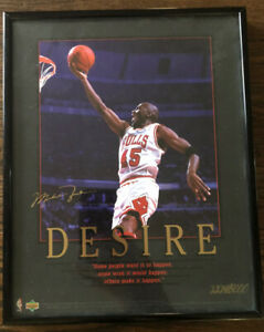 michael jordan signed upper deck Poster DESIRE Limited Edition #2274/5000 Bulls