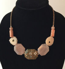 Barse Brand Jasper Multi Faceted Stone Beads and Steling Silver Necklace