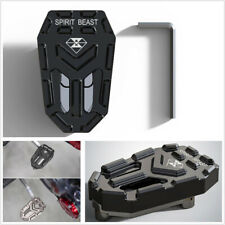 Black Aluminum Alloy Motorcycles Scooters Widened Brake Pedal Non-slip Universal