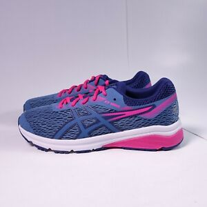 Size 7Y / Women's 8.5 ASICS GT-1000 7 GS Running Shoes 1014A005-400 Azure/Purple