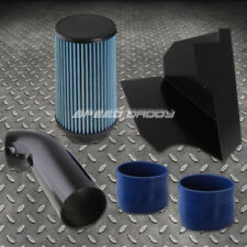 FOR 96-00 CHEVY/GMC GMT400 5.0L/5.7L V8 COLD AIR INTAKE+HEAT SHIELD+BLUE FILTER