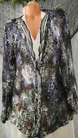 Nic + Zoe Plus Size 3x Ruffled Sweater Cardigan Multi Color Abstract Pattern