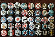 The Jam The Who Mod Quadrophenia Button Badges x 40. Pins. Wholesale. Bargain.