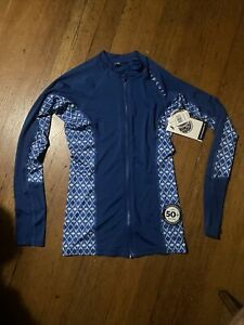 Rip Curl Womens Wet Suit Top NWT Performance Fit Small Blue