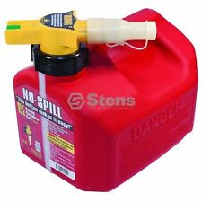 765-100 Stens No Spill 1 1/4 Gallon Gasoline Fuel Can Container Auto Flow Stop