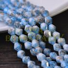 New 50pcs 6mm Bicone Faceted Glass Loose Spacer Colorized Beads Deep Blue