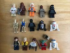Lot of 15 Official Lego Star Wars Minifigures BATTLE DROIDS Han Luke Ceremonial