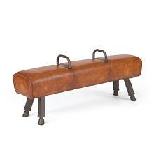"60"" Long  Lonnie Ottoman Leather Iron"