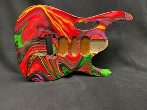 Alder 6 string Jem style guitar body, DNA style swirl, AANJ, HSH- RB132
