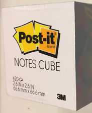 Post-it Notes Cube, 2.6 in x 2.6 in, Multicolored Geometric Triangles, 620 Sheet