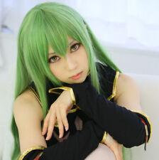 "Code Geass C.C CC Empress 100cm 39"" Green Long Straight Anime Cosplay Wig"