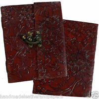 Reduced Handmade Leather Embossed Diary Journal Sketchbook Notebook 2nd Quality