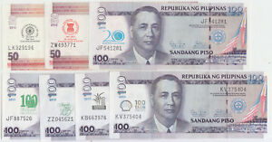 Philippines Banknote Lot 7 Different Commemorative Notes 2011-13, UNC
