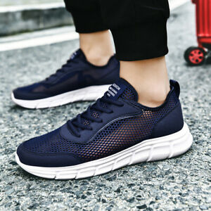 Men Breathable Casual Shoes Hollow Running Walking Sports Flats Tennis Athletics