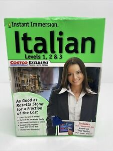 INSTANT IMMERSION - ITALIAN Levels 1, 2 & 3 never used, DVD package from ~ 2013.