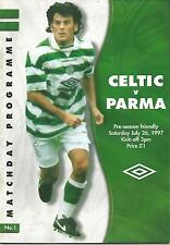 Football Programme - Celtic v Parma - Pre-Season Friendly - 26/7/1997