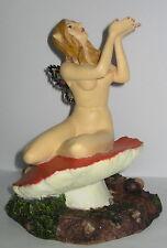Elfe mit Steinchen Flügel, Deko Figur, Kunststein, 0,9 KG, 15x12x12cm