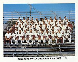 1988 PHILADELPHIA PHILLIES 8X10 TEAM PHOTO SCHMIDT SAMUEL PARRISH DAULTON HAYES