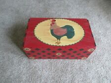 Rooster Wood Storage Box
